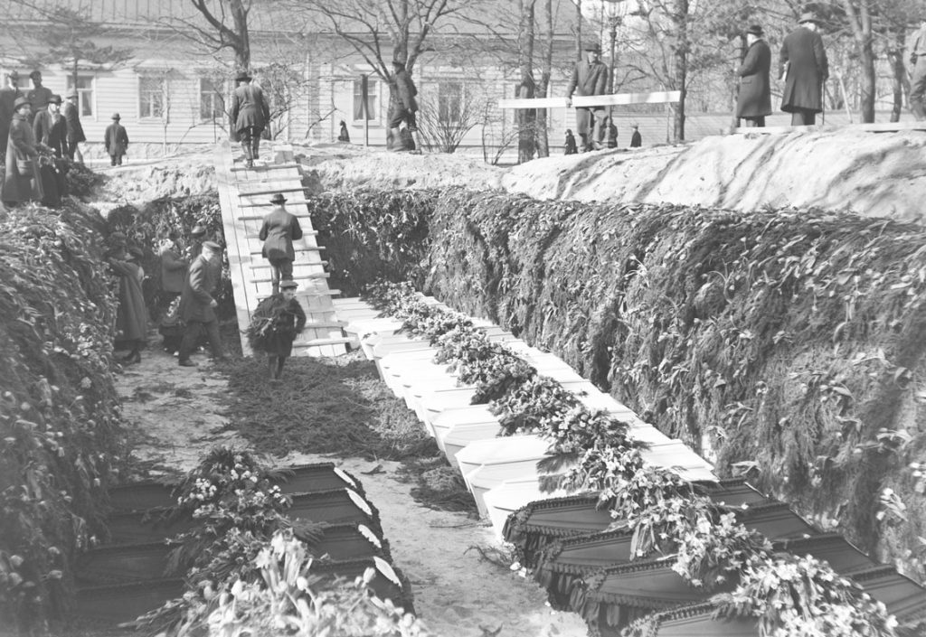 The grave in Old Church Park of the German soldiers fallen during the occupation of Helsinki.